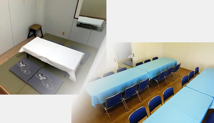 寺院控室、親族様控室